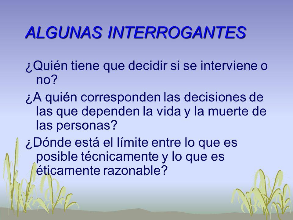 ALGUNAS INTERROGANTES
