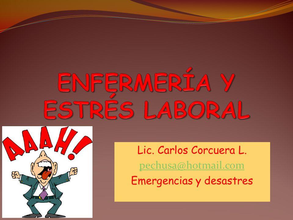 ENFERMERÍA Y ESTRÉS LABORAL