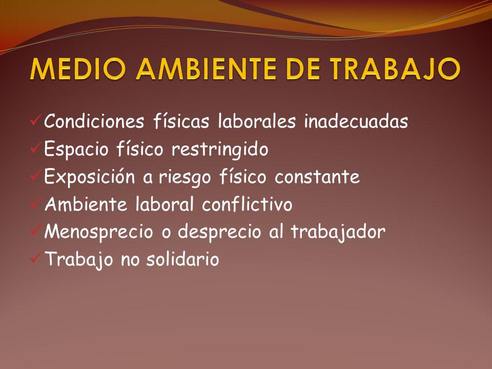 MEDIO AMBIENTE DE TRABAJO