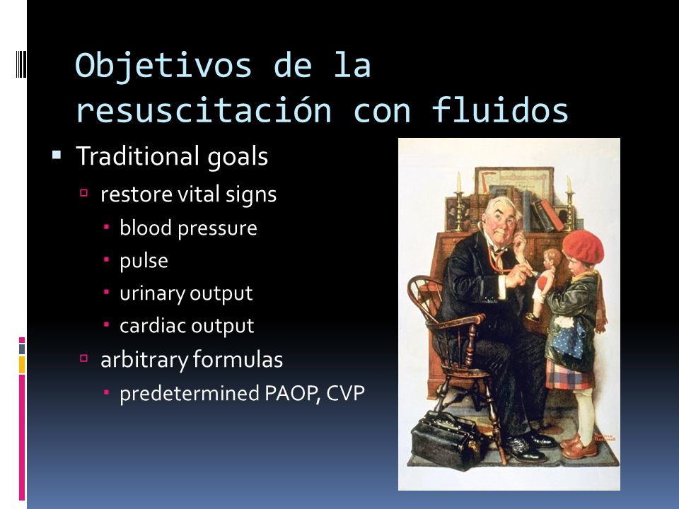Objetivos de la resuscitación con fluidos