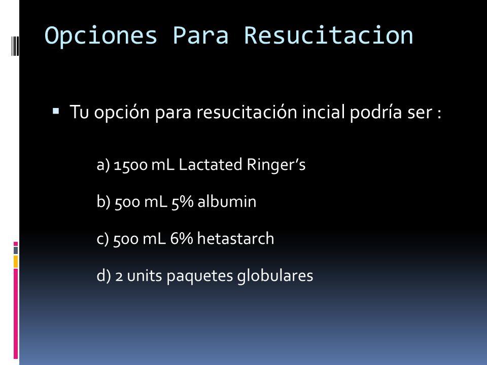Opciones Para Resucitacion