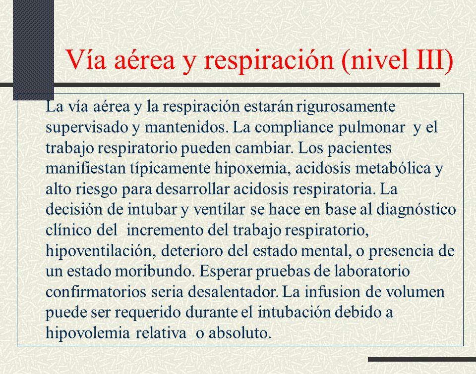 Vía aérea y respiración (nivel III)