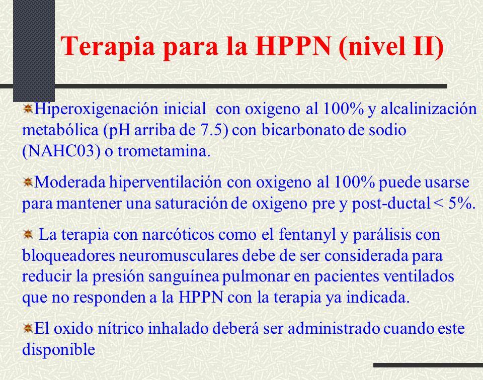 Terapia para la HPPN (nivel II)