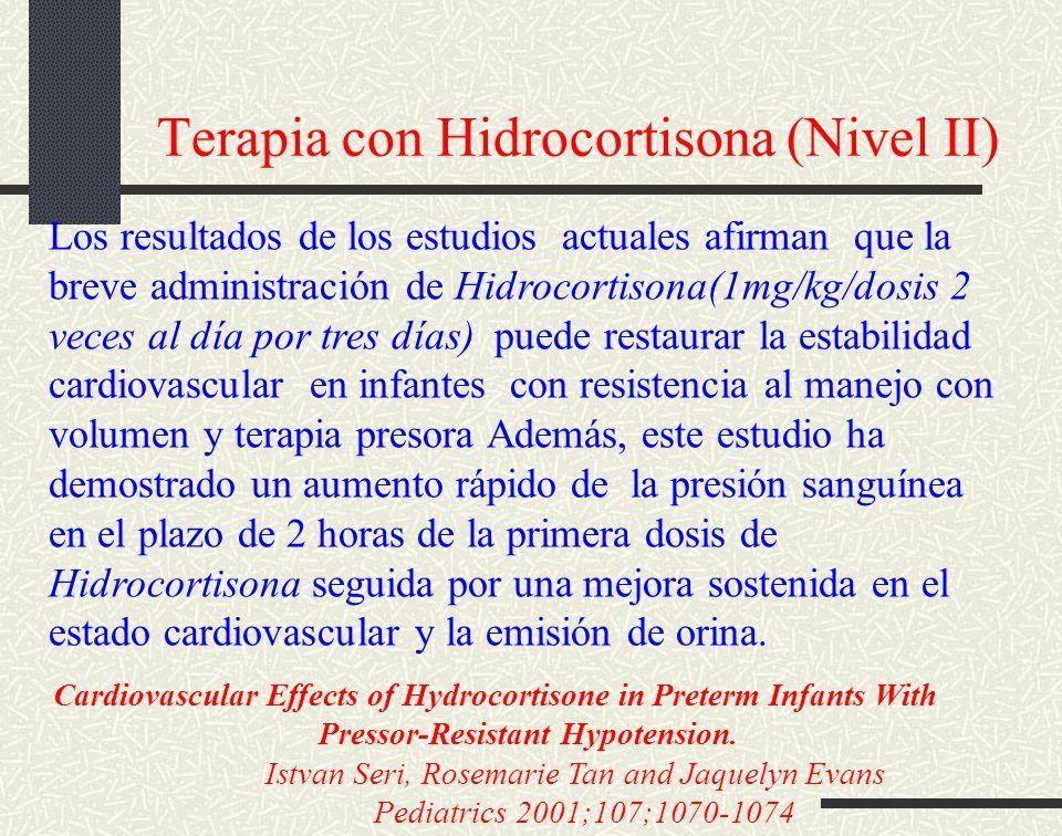 Terapia con Hidrocortisona (Nivel II)