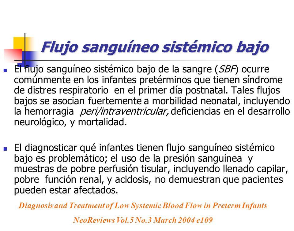 Flujo sanguíneo sistémico bajo