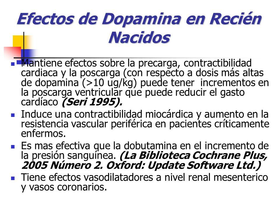 Efectos de Dopamina en Recién Nacidos