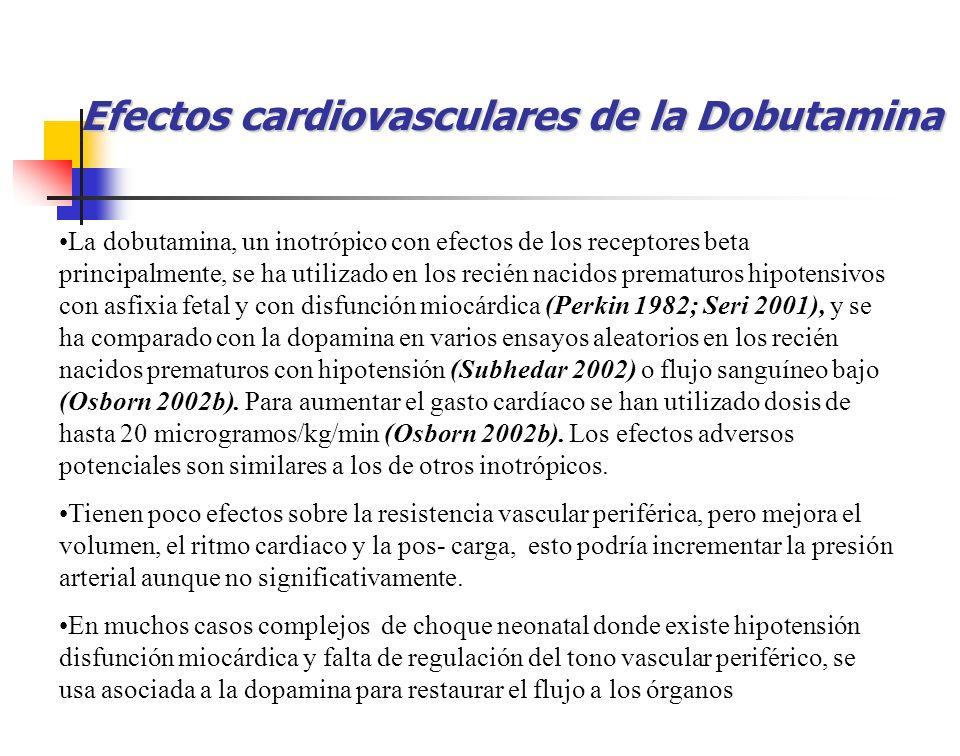 Efectos cardiovasculares de la Dobutamina
