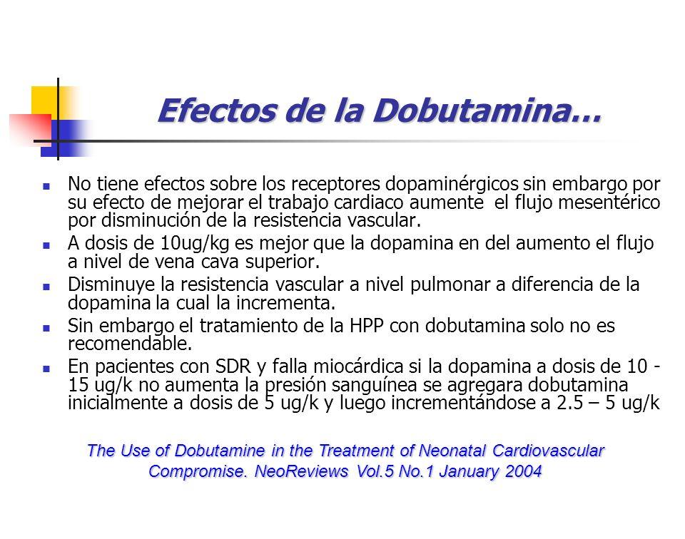Efectos de la Dobutamina…