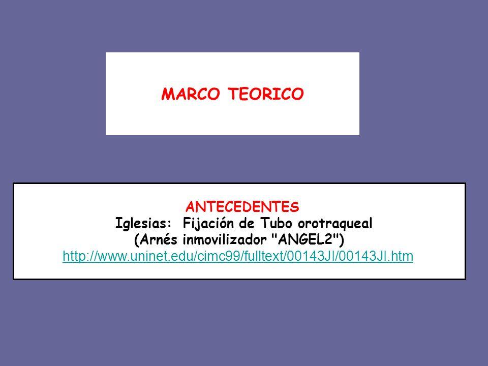 Iglesias: Fijación de Tubo orotraqueal (Arnés inmovilizador ANGEL2 )