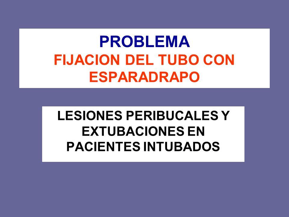 PROBLEMA FIJACION DEL TUBO CON ESPARADRAPO