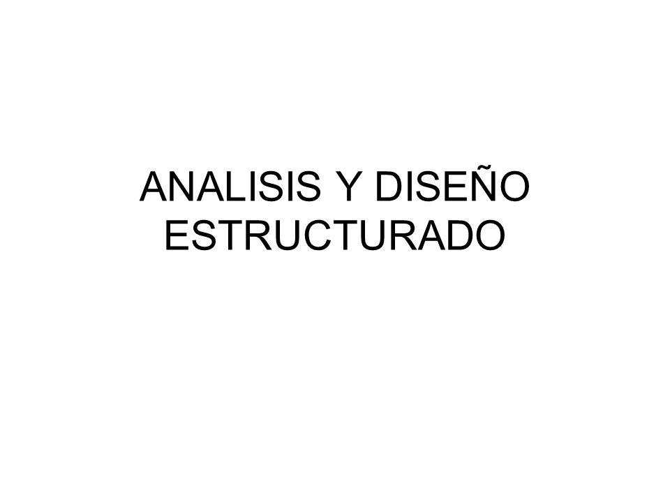 ANALISIS Y DISEÑO ESTRUCTURADO