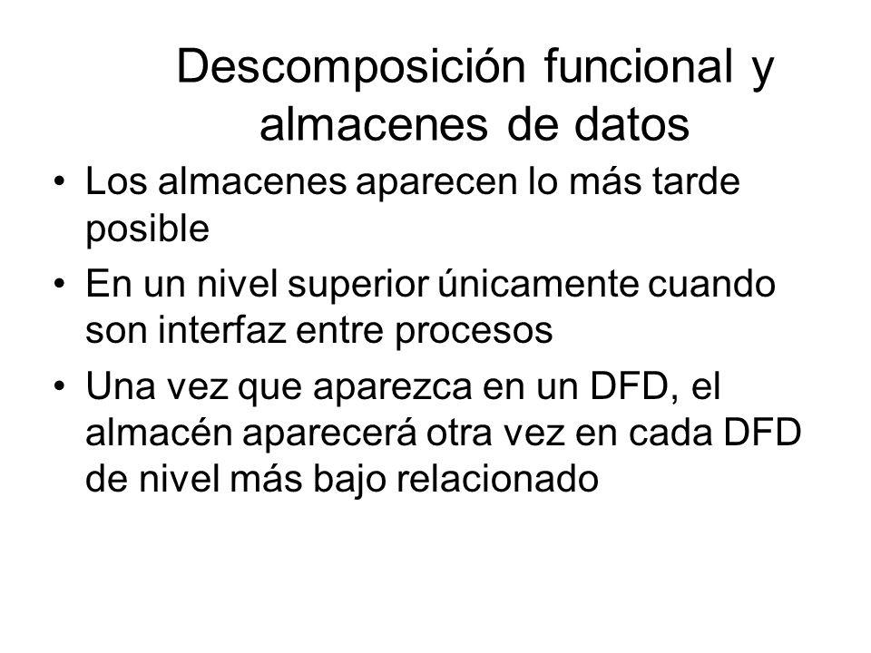 Descomposición funcional y almacenes de datos