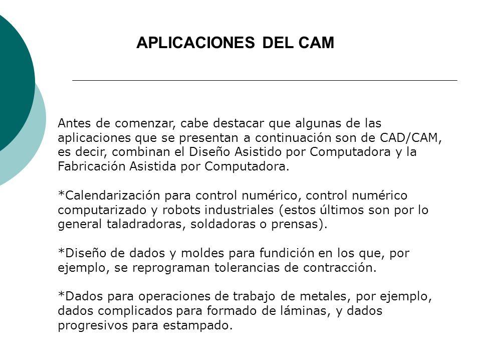 APLICACIONES DEL CAM
