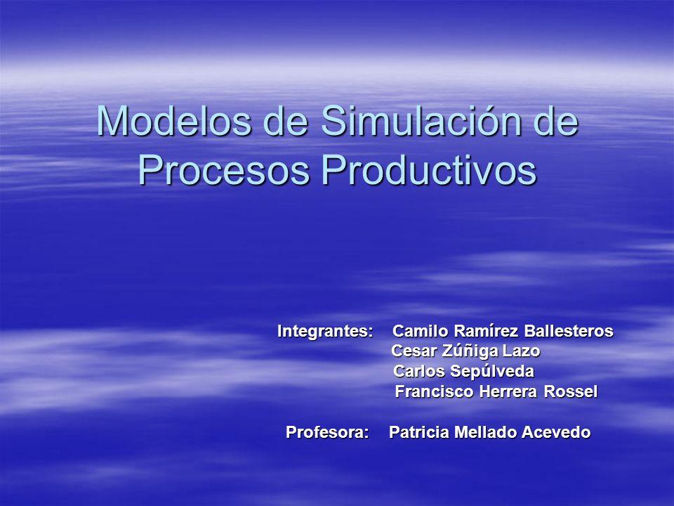 Modelos de Simulación de Procesos Productivos