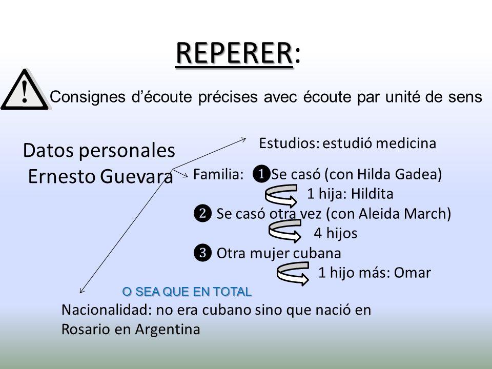 Datos personales Ernesto Guevara