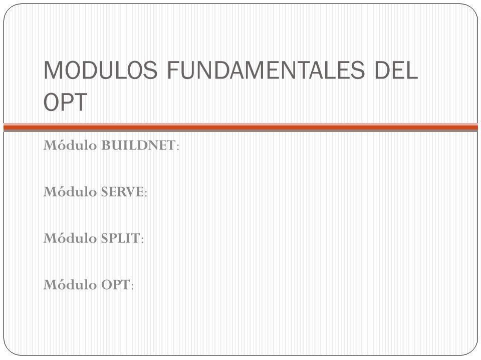 MODULOS FUNDAMENTALES DEL OPT