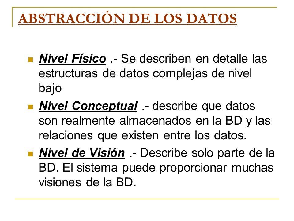 ABSTRACCIÓN DE LOS DATOS