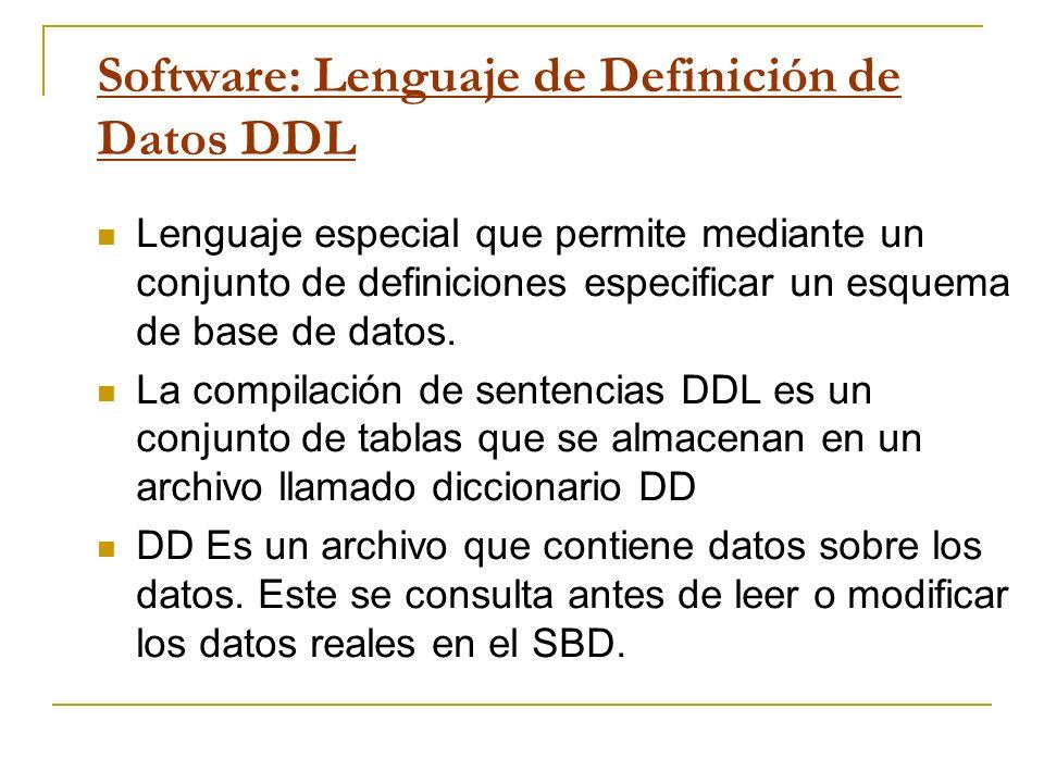 Software: Lenguaje de Definición de Datos DDL