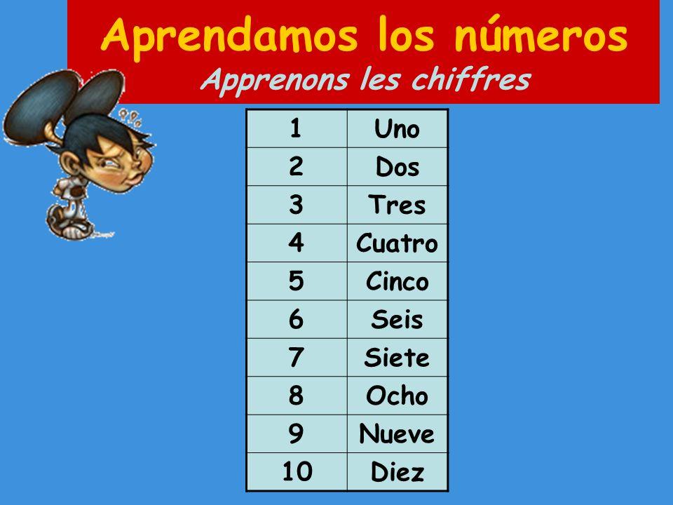 Aprendamos los números Apprenons les chiffres