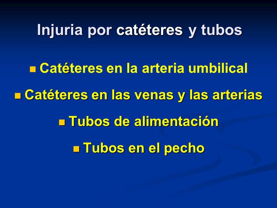 Injuria por catéteres y tubos
