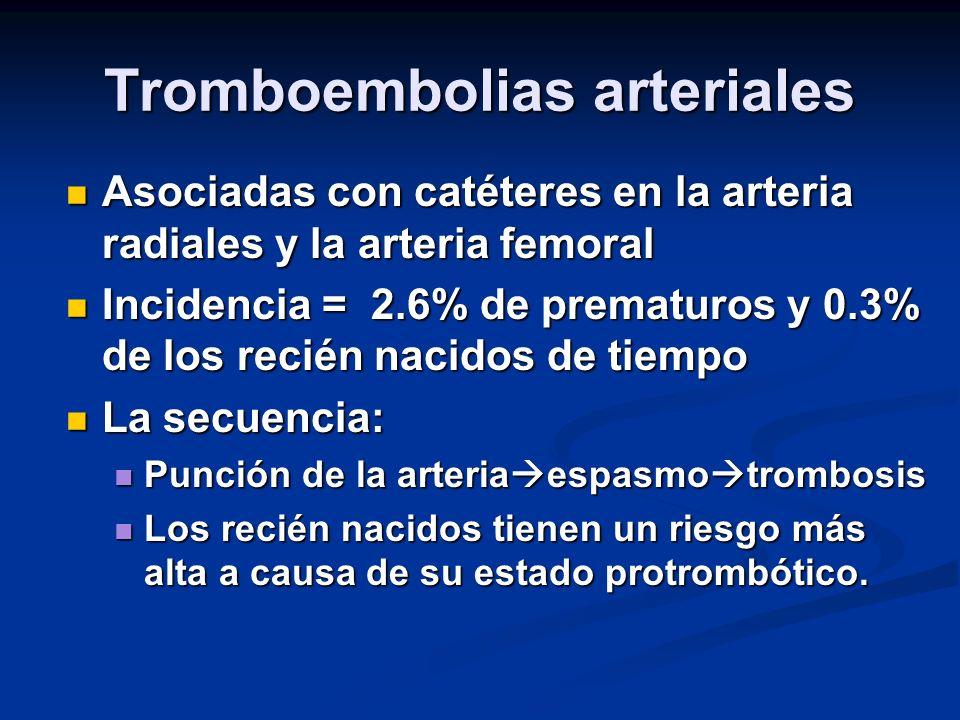 Tromboembolias arteriales