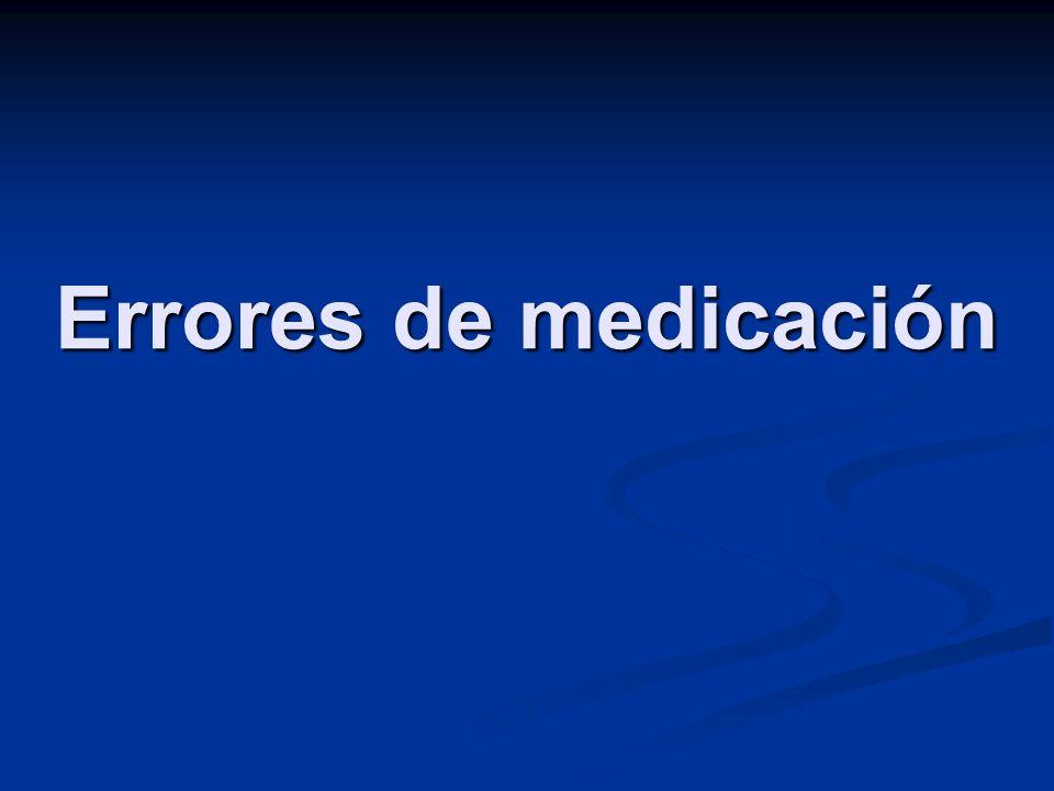 Errores de medicación