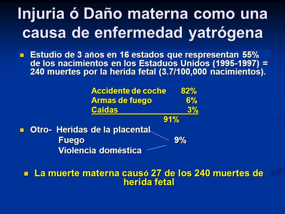 Injuria ó Daño materna como una causa de enfermedad yatrógena