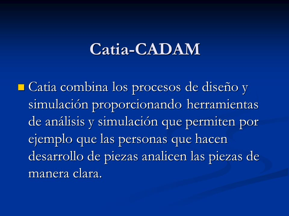Catia-CADAM