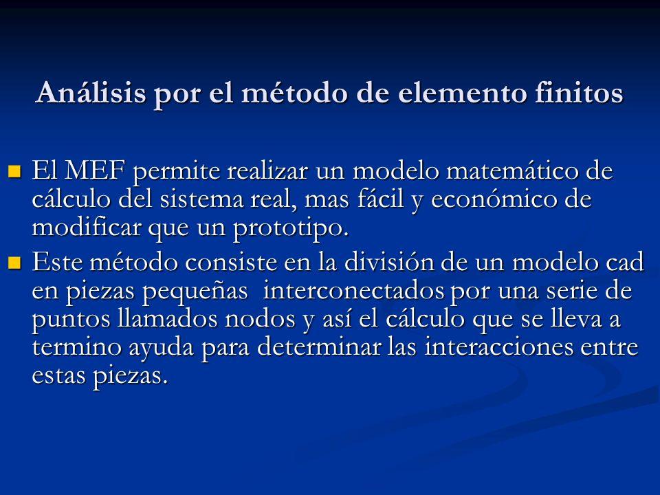Análisis por el método de elemento finitos