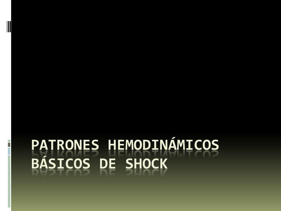 patrones Hemodinámicos básicos de shock