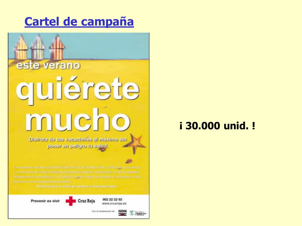 Cartel de campaña ¡ 30.000 unid. !