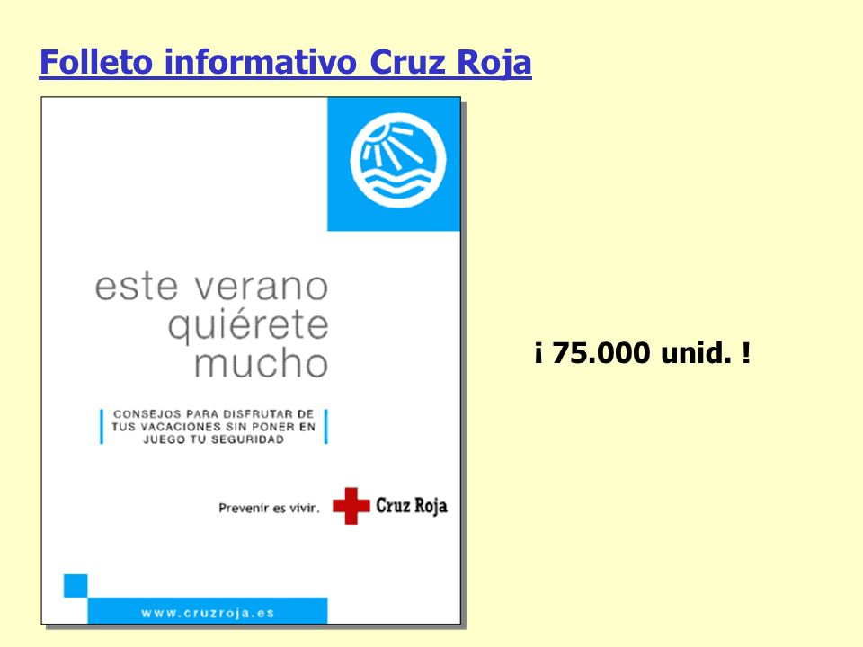 Folleto informativo Cruz Roja