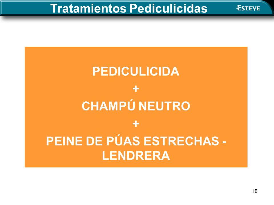 Tratamientos Pediculicidas PEINE DE PÚAS ESTRECHAS - LENDRERA
