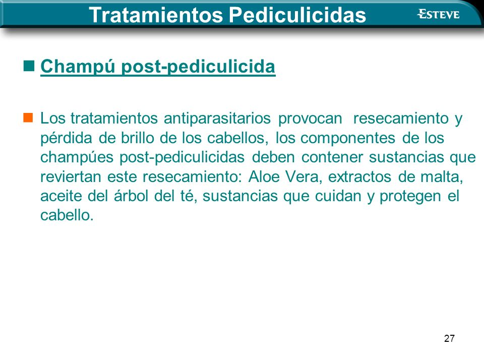 Tratamientos Pediculicidas
