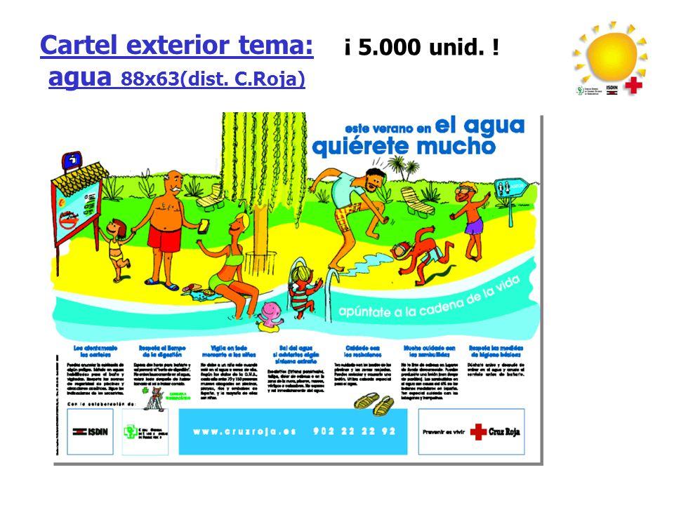 Cartel exterior tema: agua 88x63(dist. C.Roja)