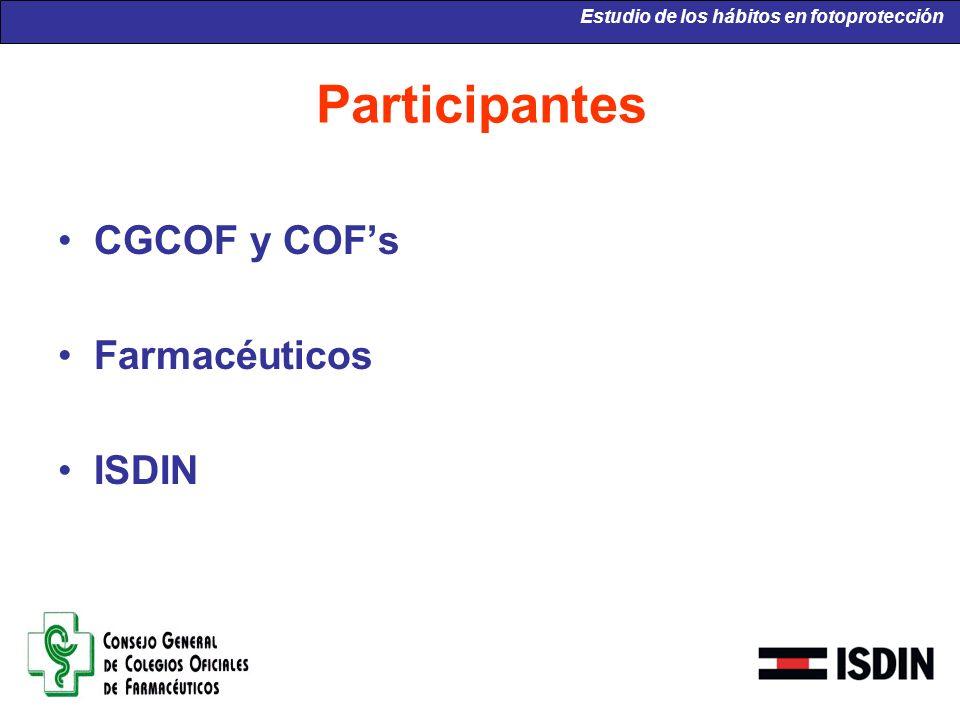 Participantes CGCOF y COF's Farmacéuticos ISDIN