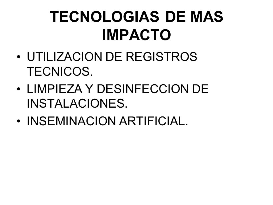 TECNOLOGIAS DE MAS IMPACTO