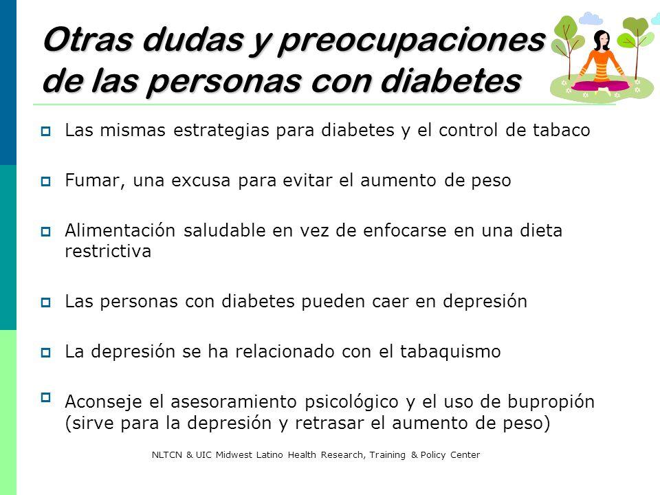 Otras dudas y preocupaciones de las personas con diabetes
