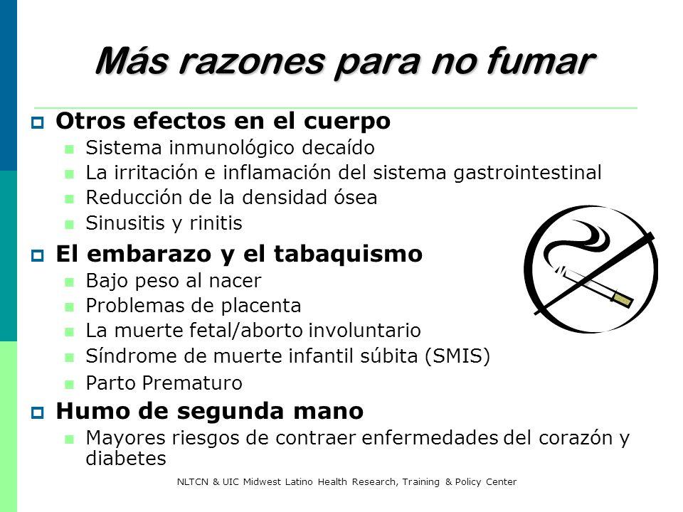 Más razones para no fumar