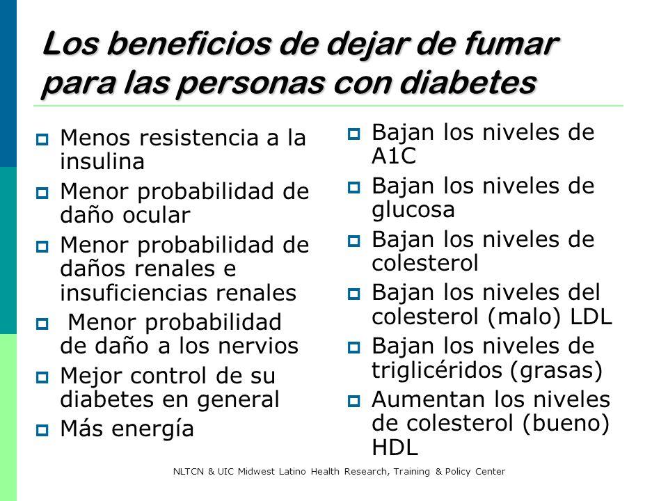 Los beneficios de dejar de fumar para las personas con diabetes