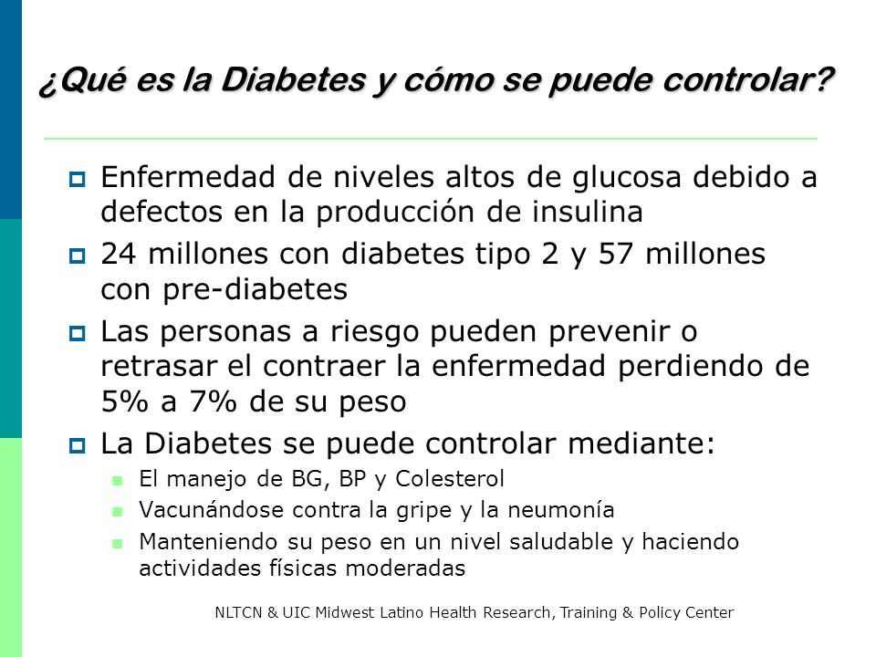 ¿Qué es la Diabetes y cómo se puede controlar