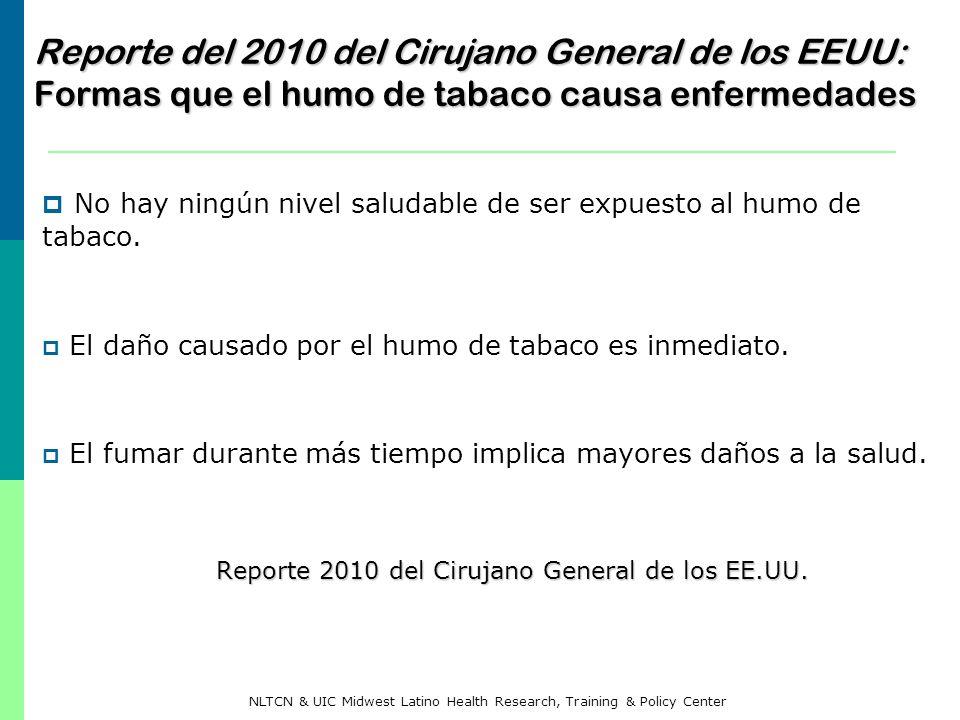 Reporte del 2010 del Cirujano General de los EEUU: Formas que el humo de tabaco causa enfermedades