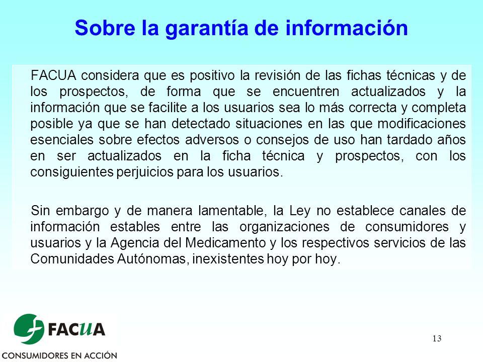 Sobre la garantía de información