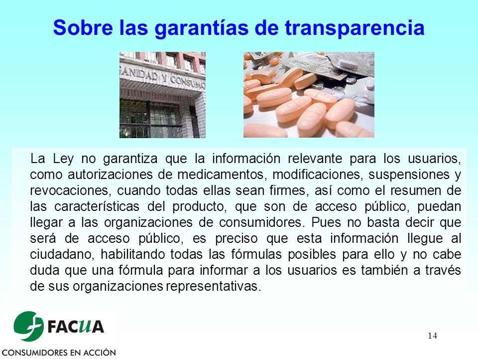 Sobre las garantías de transparencia