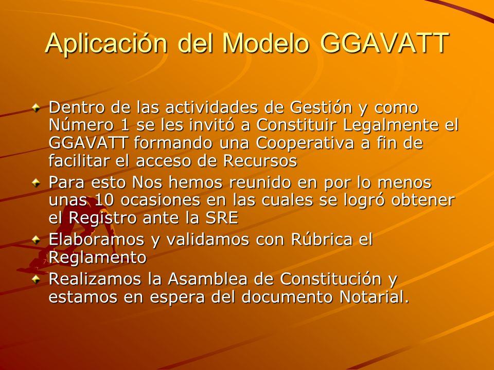 Aplicación del Modelo GGAVATT