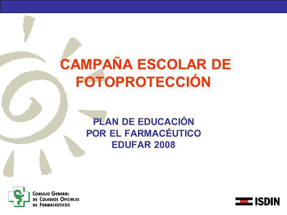 CAMPAÑA ESCOLAR DE FOTOPROTECCIÓN