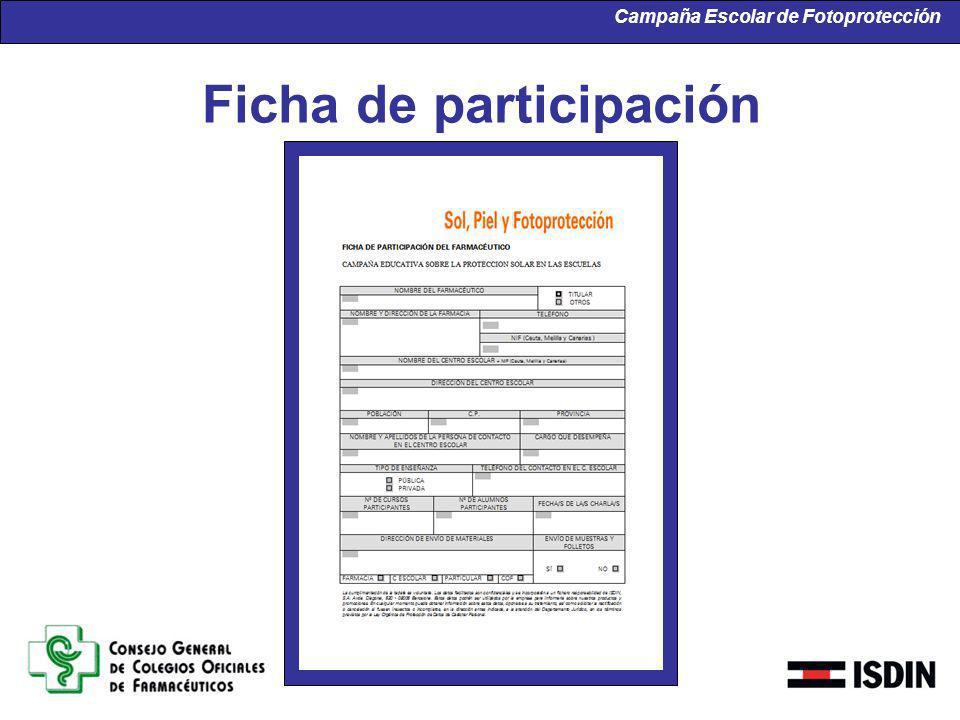 Ficha de participación