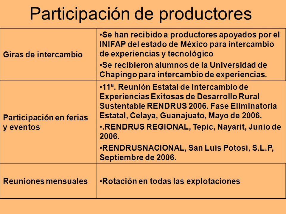 Participación de productores