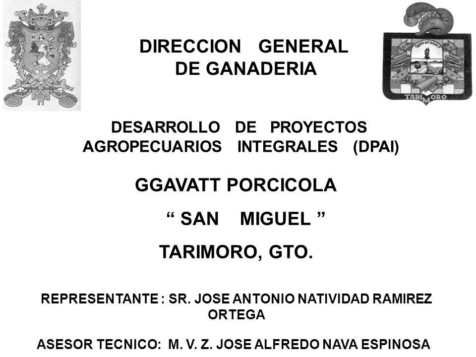 DIRECCION GENERAL DE GANADERIA GGAVATT PORCICOLA SAN MIGUEL
