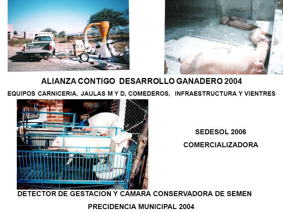 ALIANZA CONTIGO DESARROLLO GANADERO 2004 PRECIDENCIA MUNICIPAL 2004